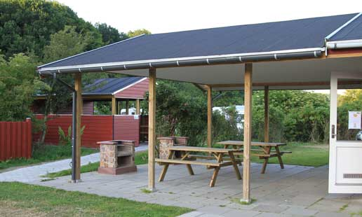 Barbecuearea with tables and benches