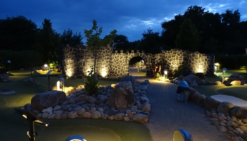 Minigolf by night i Horsens