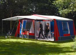 afstand mellem telte