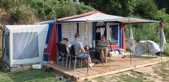 Holiday in glamping tent in Denmark - Kids holiday at Horsens City Camping