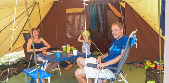 Camping holidays in own tent in Horsens is the perfect holiday for the whole family