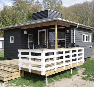 Luxury cabin for 6 people on 25 m2 with dishwasher