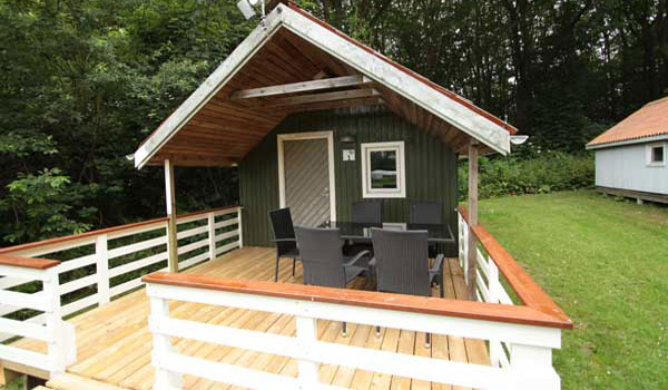 20 m2 woodland cabin to 5 pers. at Horsens City Camping